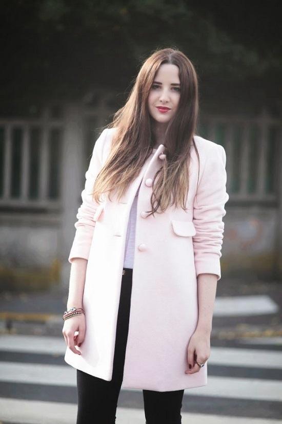 calidad superior hermosa y encantadora mirada detallada Outfit abrigo palo de rosa – Chaquetas de hombre y mujer 2019